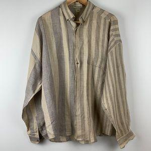 Vintage Gianni Versace Linen Shirt Medium